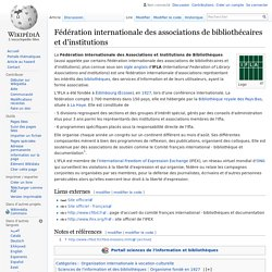 Fédération internationale des associations de bibliothécaires et d'institutions