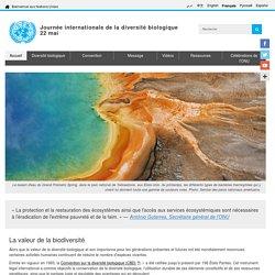Journée internationale de la diversité biologique, 22 mai