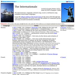 The Internationale in 40+ languages - MP3 collection