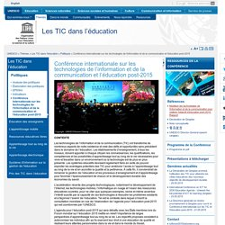 Conférence internationale sur les technologies de l'information et de la communication et l'éducation post-2015