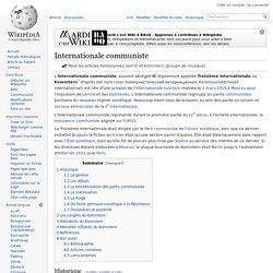 Internationale communiste
