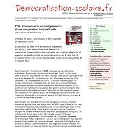PISA. Commentaires et enseignements d'une comparaison internationale