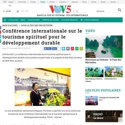 Conférence internationale sur le tourisme spirituel pour le développement durable