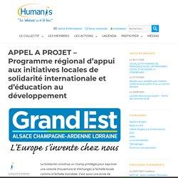 APPEL A PROJET - Programme régional d'appui aux initiatives locales de solidarité internationale et d'éducation au développement