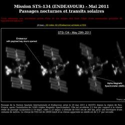 Station Spatiale Internationale et Endeavour - STS-134 - Passages nocturnes et transits solaires