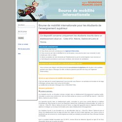 région Bourgogne-Franche-Comté / Bourse de mobilité internationale pour les étudiants de l'enseignement supérieur