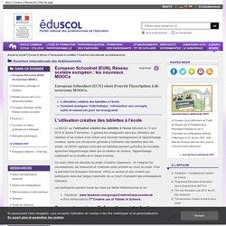 Ouverture internationale des établissements - European Schoolnet (EUN) : les nouveaux MOOCs
