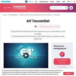 Actualité internationale et francophone en cours de FLE