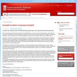 PRINCIPAUTE DE MONACO 07/10/11 L'avenir du vaccin contre les bilharzioses passe par une concertation internationale