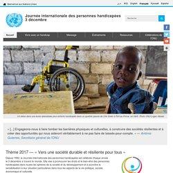 Journée internationale des personnes handicapées, 3 décembre