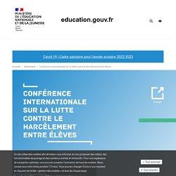Conférence internationale sur la lutte contre le harcèlement entre élèves
