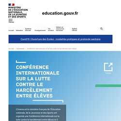 Conférence internationale sur la lutte contre le harcèlement