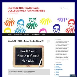 SECTION INTERNATIONALE, COLLEGE ROSA PARKS RENNES