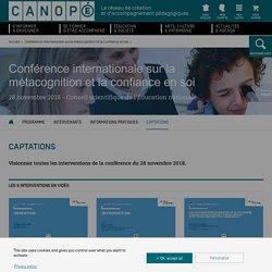 Conférence internationale sur la métacognition et la confiance en soi