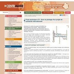 Fiche technique n°9 - Suivi et pilotage d'un projet de solidarité internationale > Conseils méthodologiques > Les outils : Centraider