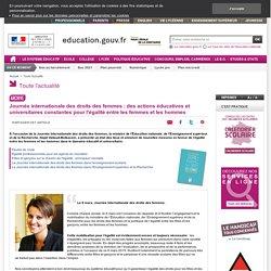 Journée internationale des droits des femmes - Ministère de l'Éducation nationale et de la Jeunesse
