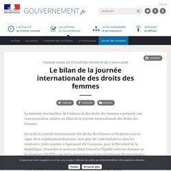 Le bilan de la journée internationale des droits des femmes - Compte rendu du Conseil des ministres du 9 mars 2016