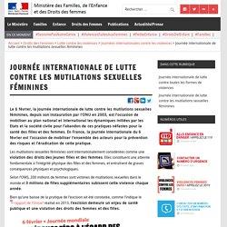 Journée internationale de lutte contre les mutilations sexuelles féminines – Ministère des Familles, de l'Enfance et des Droits des femmes