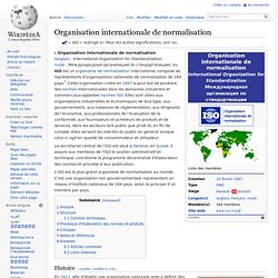 International Organization for Standardization wikipedia