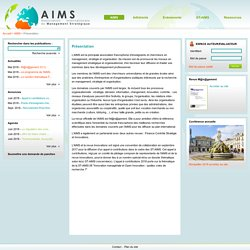 AIMS Association Internationale de Management Strategique - Présentation