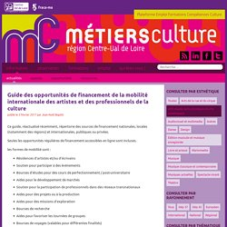 Guide des opportunités de financement de la mobilité internationale des artistes et des professionnels de la culture - Métiers Culture