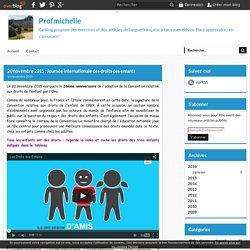 20 novembre 2015 : Journée internationale des droits des enfants - Profmichelle