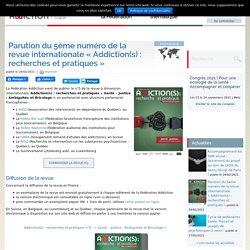 """Parution du 5ème numéro de la revue internationale """"Addiction(s) : recherches et pratiques"""" / Fédération des addictions, février 2021"""