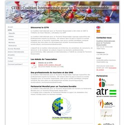 CITR - Coalition Internationale pour un Tourisme Responsable
