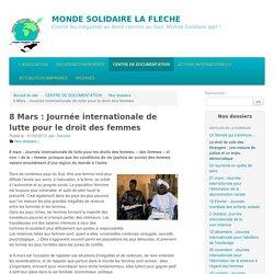 8 Mars : Journée internationale de lutte pour le droit des femmes - MONDE SOLIDAIRE LA FLECHE