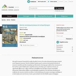 Revue Revue internationale et stratégique 2014/3, Mers et océans