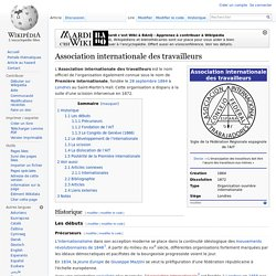 Association internationale des travailleurs