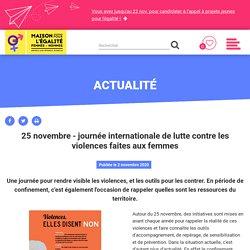 25 novembre - journée internationale de lutte contre les violences faites aux...