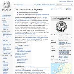 Cour internationale de justice - wikipedia