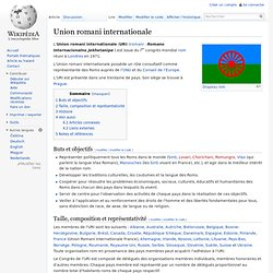 Union romani internationale