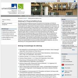 Abteilung für Wissenschaftsforschung — Forum Internationale Wissenschaft