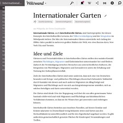 Internationaler Garten