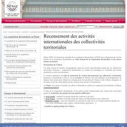 Recensement des activités internationales des collectivités territoriales- Sénat