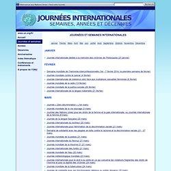 Les Journées - Journées internationales, semaines, années et décennies
