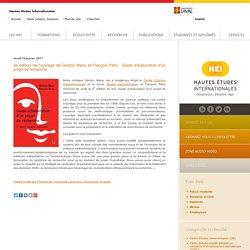 Hautes Études Internationales (HEI) - 3e édition de l'ouvrage de Gordon Mace et François Pétry : Guide d'élaboration d'un projet de recherche