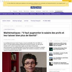 Claire Voisin réagit aux résultats des évaluations internationales de mathématiques PISA et TiMSS