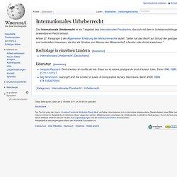 Internationales Urheberrecht