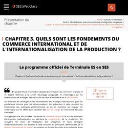 Chapitre 3. Quels sont les fondements du commerce international et de l'internationalisation de la production ?