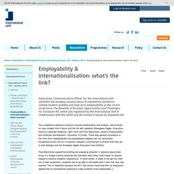 Employability & internationalisation: what's the link? - International Unit