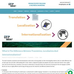 What is the difference between translation, localization and internationalization? - DTP Labs