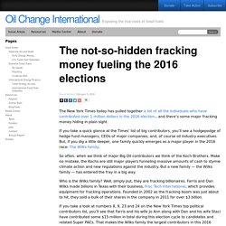 The not-so-hidden fracking money fueling the 2016 elections