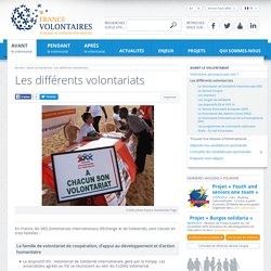 Volontariats internationaux d'échange et de solidarité, devenir volontaire à l'étranger, Volontariat international