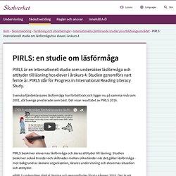 PIRLS: internationell studie om läsförmåga hos elever i årskurs 4