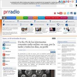 Un 82,7% de los internautas consume radio online: en casa, por la tarde y todos los días, su perfil