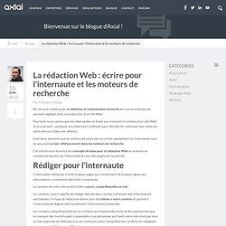 La rédaction Web ou comment améliorer son référencement | Blogue de Axial Développement