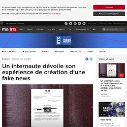Un internaute dévoile son expérience de création d'une fake news - rts.ch - Culture
